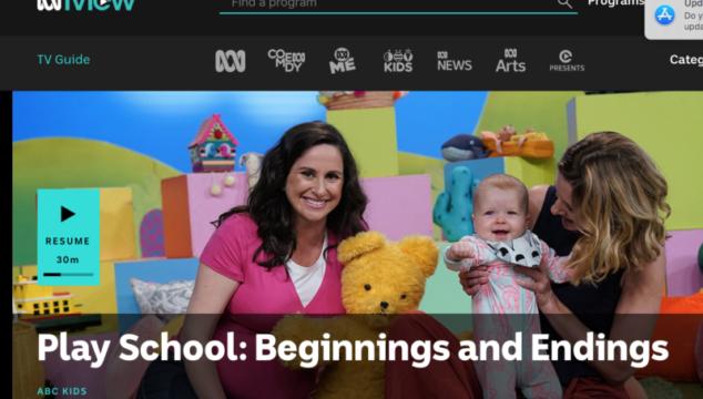 Play School: Beginnings and Endings - courtesy Play School ABC