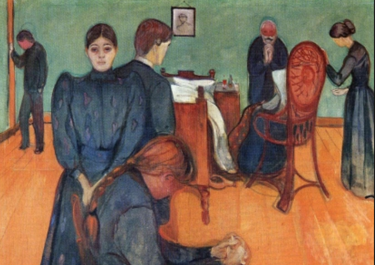 Death in the Sickroom by Edvard Munch
