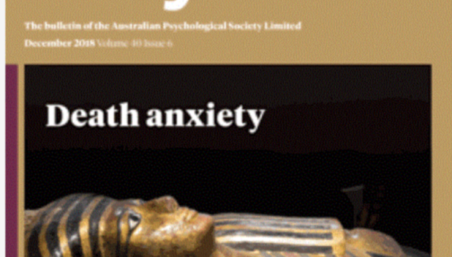 Death Anxiety - cover of InPsych, December 2018.