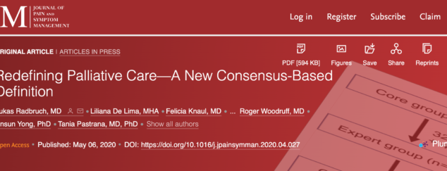 Redefining Palliative Care—A New Consensus-Based Definition