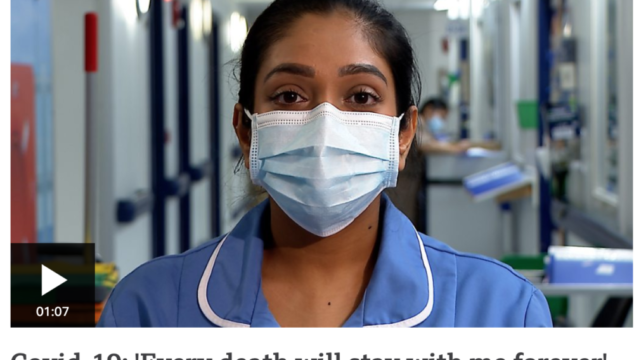 Every death will stay with me forever, Nurse Vishalini Navaneetharajah told The BBC.