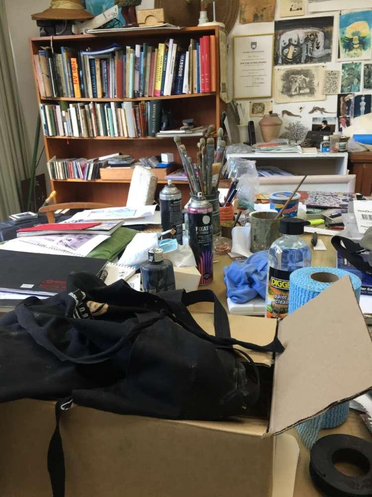 Guy Warren's studio