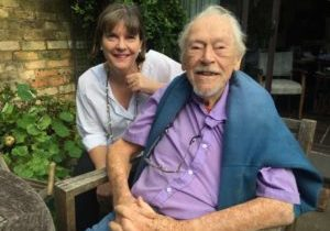 With-100-year-old-Guy-Warren-just-outside-his-busy-studio
